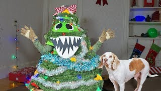 christmas-tree-monster-pranks-dogs-funny-dogs-maymo-potpie