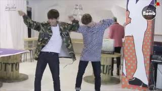 [BANGTAN BOMB] Free dance time with JIMIN & V - BTS (방탄소년단)
