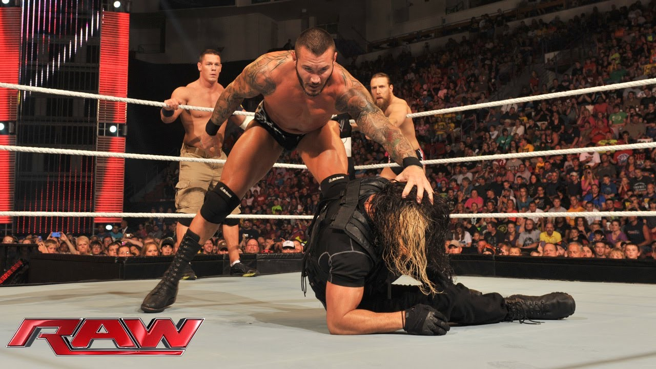 John cena daniel bryan randy orton vs the shield raw august 5 2013 youtube