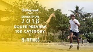 RUNHOOD Route Preview: Maybank Bali Marathon 2018 10K Category