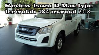 Review Isuzu D-max type terendah, manual 4X4 2018 Indonesia
