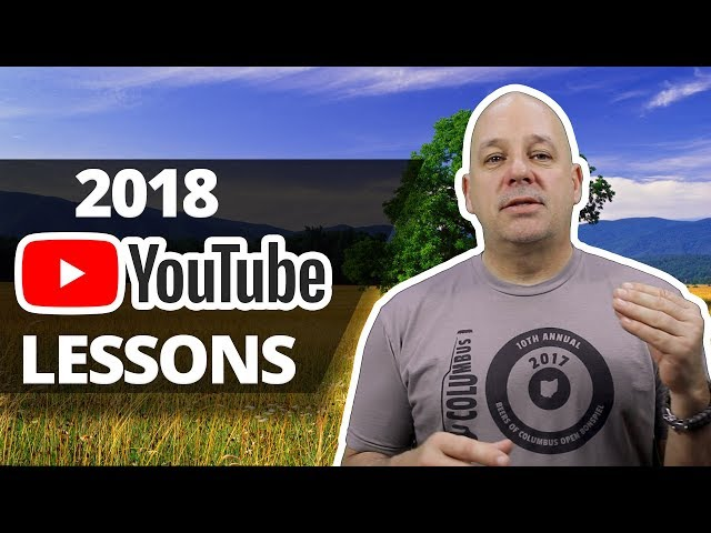 2018 Youtube Channel Lessons and  ADVICE for BEGINNERS