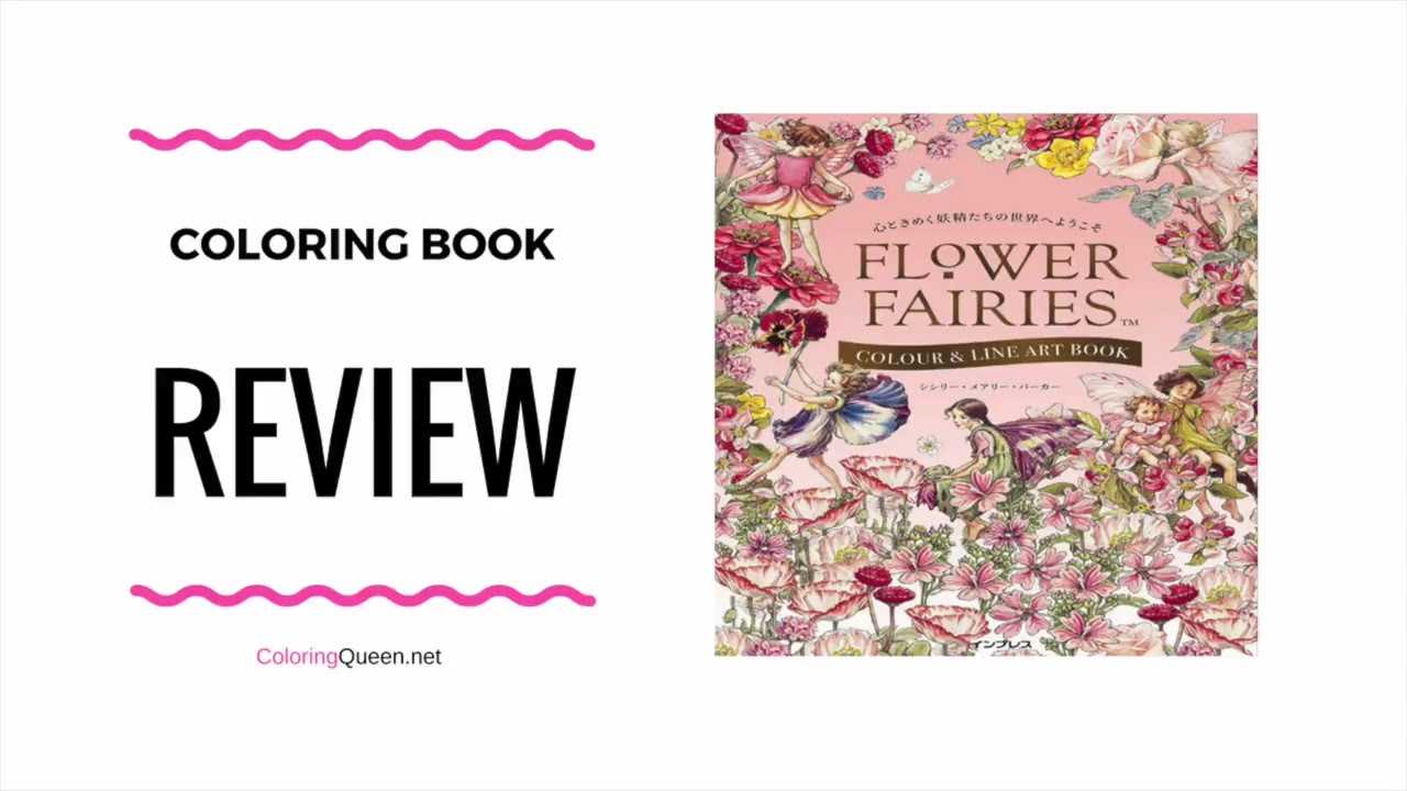 Flower Fairies Coloring Book Review - Cicely Mary Barker - YouTube