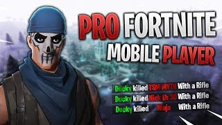 PRO FORTNITE MOBILE PLAYER // 295+ Wins // Fortnite Mobile Gameplay Tips & Tricks