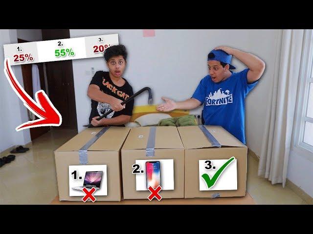 تحدي حاول لا تحطم الصندوق الغالي !!( كسرت ايفون X بالغلط !!)