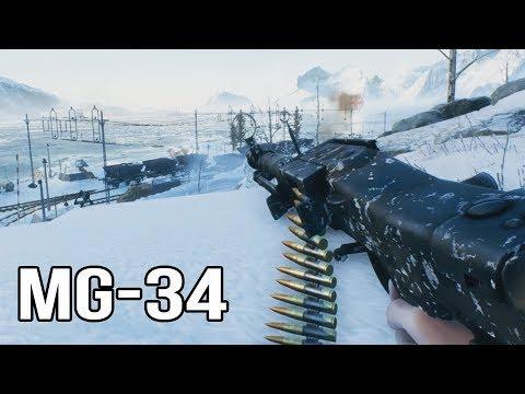Battlefield 5 - MG-34 Gameplay