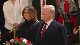 President Trump pays respects to Pres. George H.W. Bush