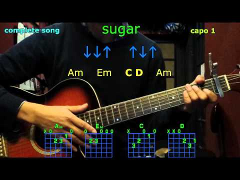 sugar robin schulz guitar chords