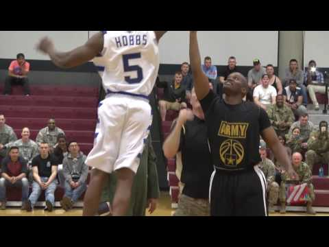 FIRST ARMY VS AIR FORCE BASKETBALL GAME FIRST HALF HIGHLIGHTS 05 20 2016