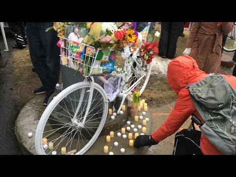 Ghost bike ceremony for bicyclist killed in Boston