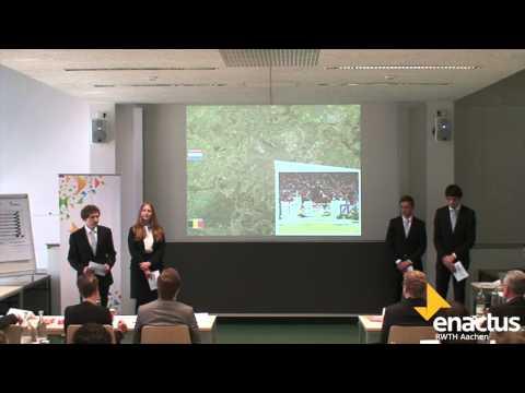 Enactus-Team der RWTH Aachen am Regional-Cup Nord 2014
