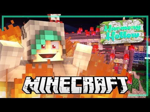 SETTING ALL THE VAMPS HOUSES ON FIRE?!  Minecraft: Harmony Hollow SMP  S3 Ep32