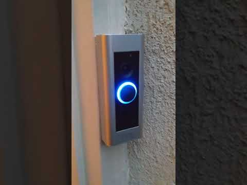 Pushing the button on a Ring Pro doorbell. Troubleshooting.