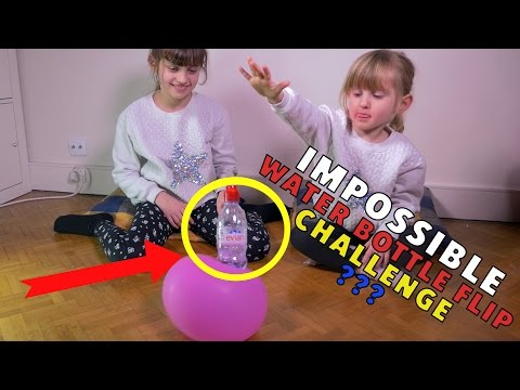 IMPOSSIBLE WATER BOTTLE FLIP CHALLENGE en FAMILLE  KALYS vs ATHENA vs MICKAL - Studio Bubble Tea