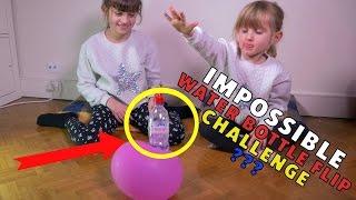 IMPOSSIBLE DOUBLE WATER BOTTLE FLIP CHALLENGE en FAMILLE • FILLES vs PAPA - Studio Bubble Tea