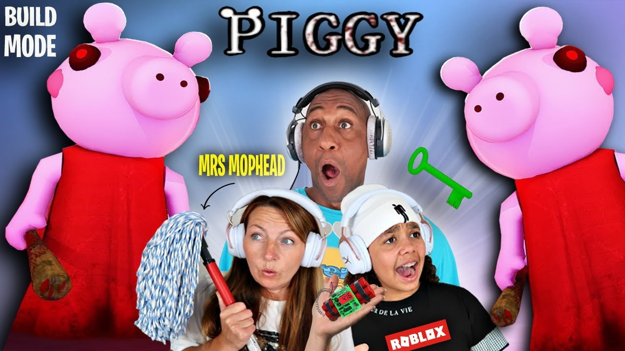 ROBLOX PIGGY BUILD MODE vs MY MUM.. (Piggy Custom Maps)
