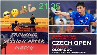 Harimoto Tomokazu 🏓 Training AFTER his win against Samsonov@ Czech Open 24/08/2018(private video HD