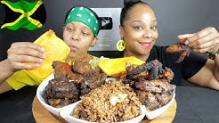 AMERICANS WHO LOVE JAMAICAN FOOD MUKBANG!