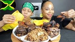 AMERICANS WHO LOVE JAMAICAN FOOD MUKBANG!