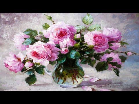 Натюрморты с цветами от Юрия Николаева.