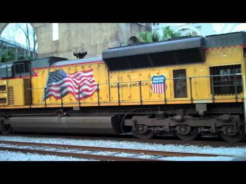 Freight Train in downtown New Orleans