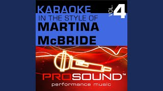 When God-Fearin' Women Get The Blues (Karaoke Instrumental Track) (In the style of Martina McBride)