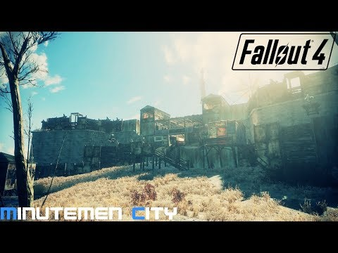 Fallout 4 | Realistic Minutemen City at The Castle (Finished) Settlement | Episode 9