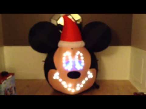 mickey mouse airblown inflatable light sync - Mickey Mouse Christmas Blow Up