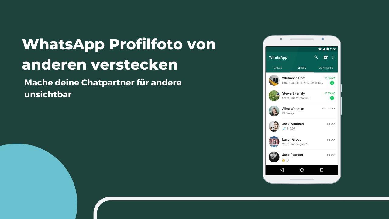 Ausblenden von whatsapp profilbild anderen whatsapp profilbild