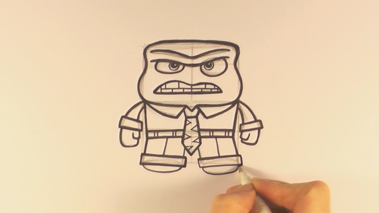 How to Draw a Cartoon Anger From Inside Out - zooshii Style - YouTube