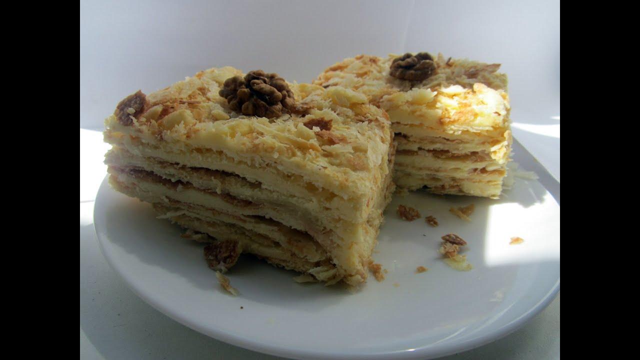 торт наполеон хрустящий рецепт с видео