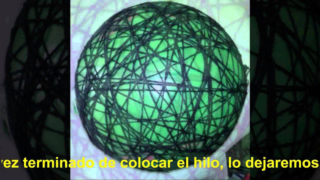Lampara de hilo youtube for Lamparas y plafones de pared