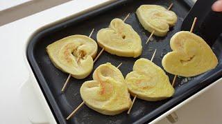 하트 모양 프렌치 토스트 만들기 : 아이와 함께하는 요…