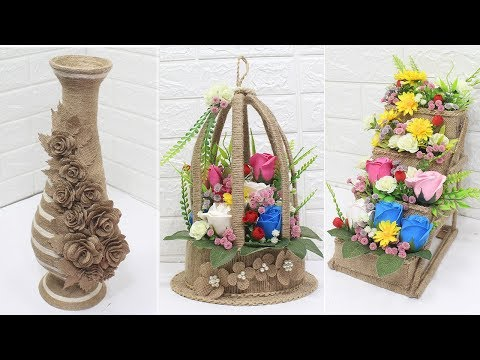 5 Jute craft ideas | Home decorating ideas handmade | #5