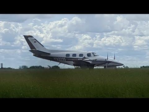 Beech Duke BE60 YV2235 takeoff de Pto Ordaz