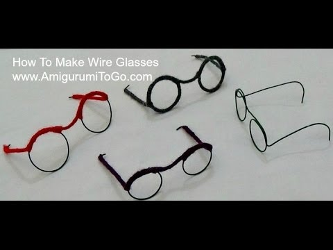How To Make Wire Glasses For Dolls - YouTube