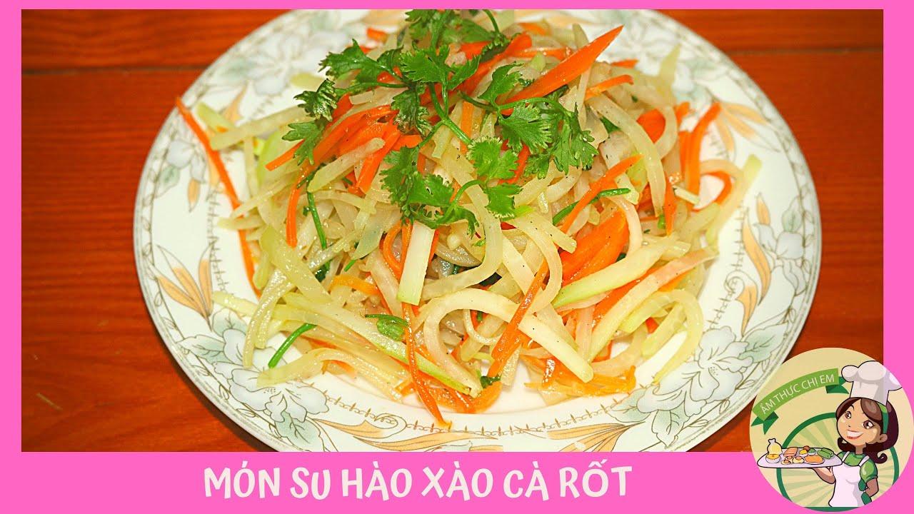 Cách làm món su hào xào cà rốt siêu ngon | Hướng dẫn nấu ăn gia đình dễ làm | Món ngon mỗi ngày