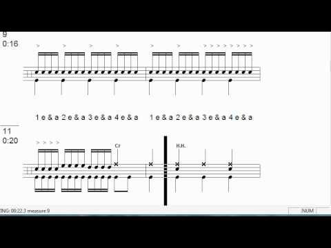 Drum drum tabs for beginners : Drum tab lesson for Psychosocial by Slip Knot - YouTube