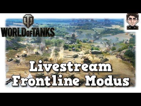 World of Tanks - Frontline Modus Aufzeichnung Livestream [deutsch]
