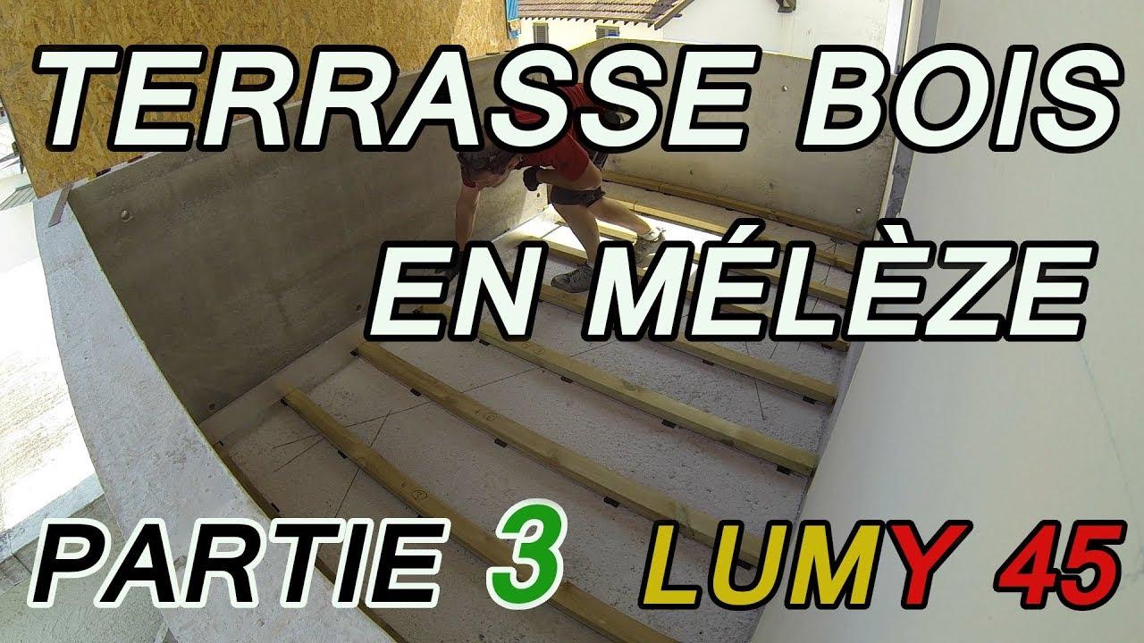 Lumy 45 terrasse bois en m l ze d coupe pose et - Fixation lambourde terrasse bois ...