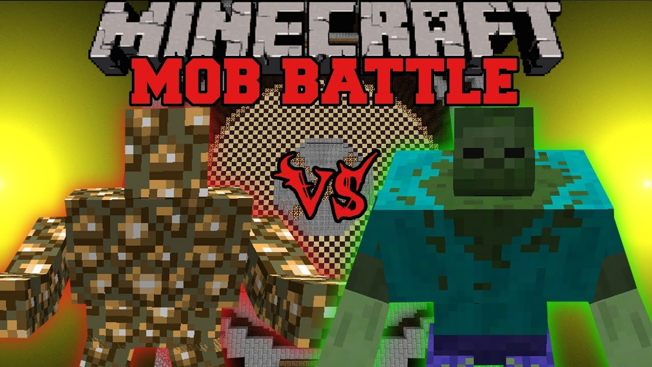 Mutant Zombie Vs Glowstone Monster Minecraft Mob Battles Angry Creatures Mod Youtube