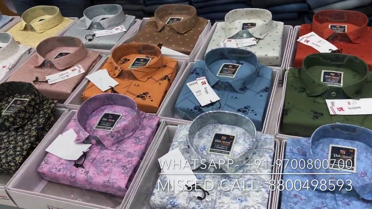 Branded Shirts Wholesalers and Manufacturer's || Casual Shirts for Men || Bajson Shirts