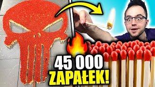 NAJWIĘKSZA CZASZKA z 45 000 ZAPAŁEK! *reakcja łańcuchowa*