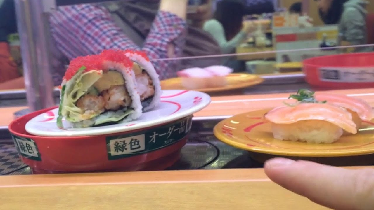 How to order, eat and pay for sushi in Japan (at a conveyer belt sushi restaurant)