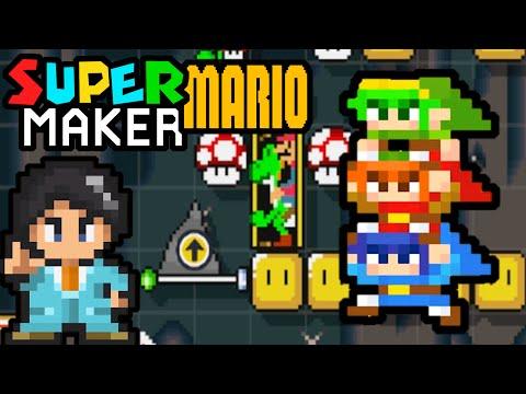 Super Mario Maker PART 13 Gameplay Walkthrough (1.2 Update, Totem Link, Arino, Weird Mario) Wii U