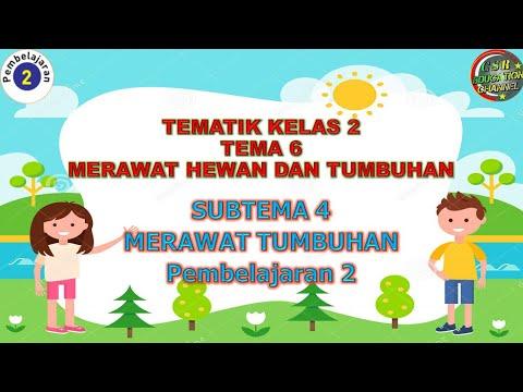 Kelas 2 Tematik : Tema 6 Subtema 4 Pembelajaran 2 (MERAWAT HEWAN DAN TUMBUHAN)