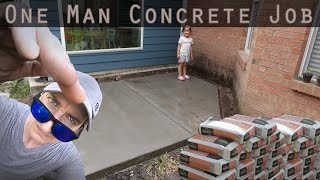 Pouring a Concrete Slab With Bagged Concrete By Yourself