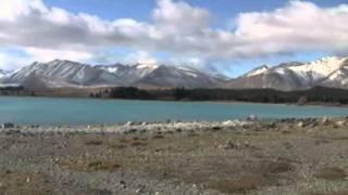 видео Голубое озеро Новой Зеландии
