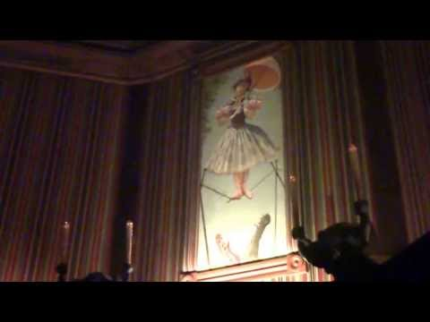 The Haunted Mansion Stretching Room in HD 1080P Disneyland