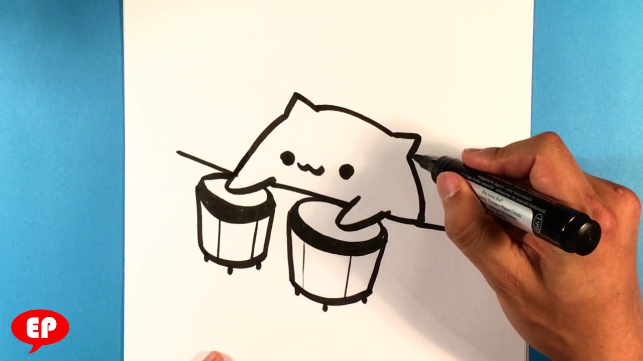 How To Draw Bongo Cat Easy Pictures To Draw Youtube